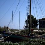 centre des glénans avec vieux bateau