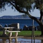 La ville de sète vue depuis la plage de marseillan tabarka