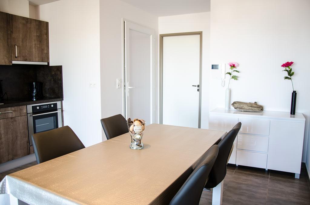 Cuisine de l'appartement 107 Marseillan