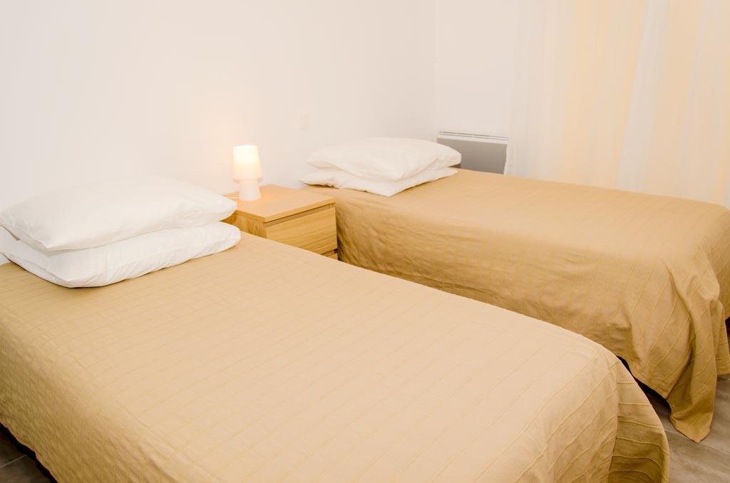 chambre lits jumeaux appartement 107